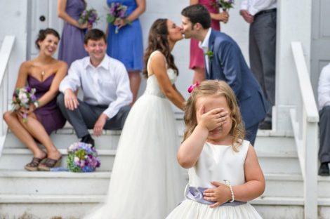 Ребенок на свадьбе родителей