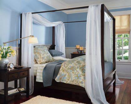 Фото интерьера маленькой спальной